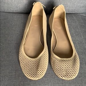 J.Crew perforated leather flats